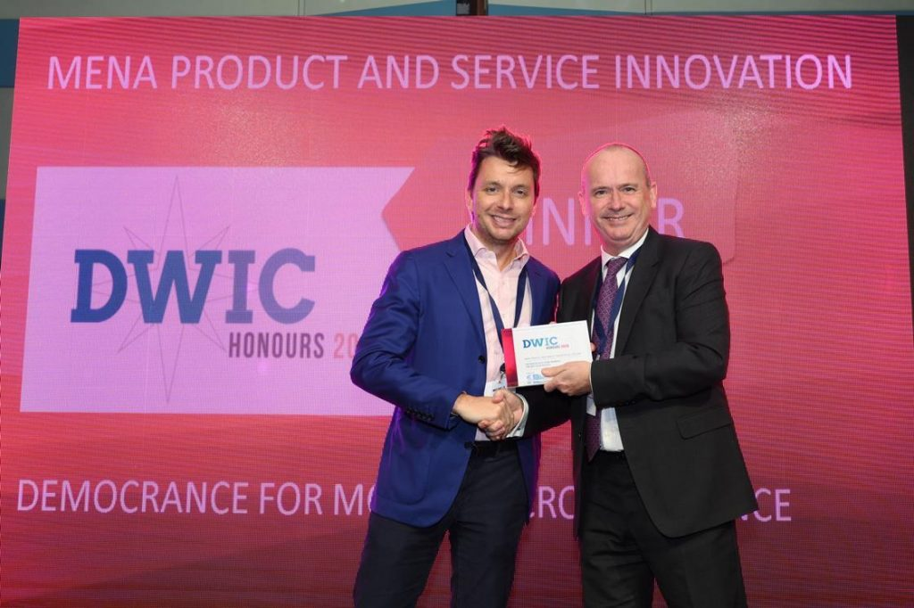 Democrance wins MENA Product & Service Innovation of the year at Dubai World Insurance Congress